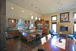 custom kitchen in new construction home