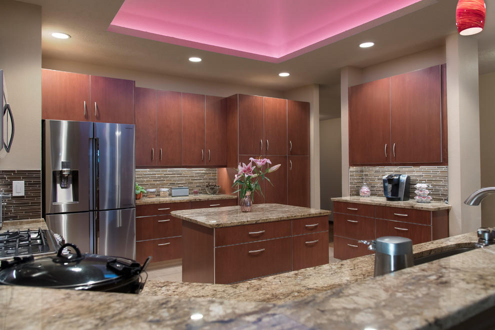 Contemporary Kitchen Remodel Features Custom Cabinets And