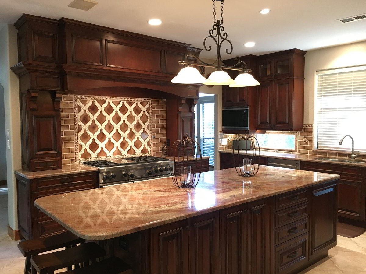 Custom Cherry Wood Cabinets in Friendship TX | Bay Area ...
