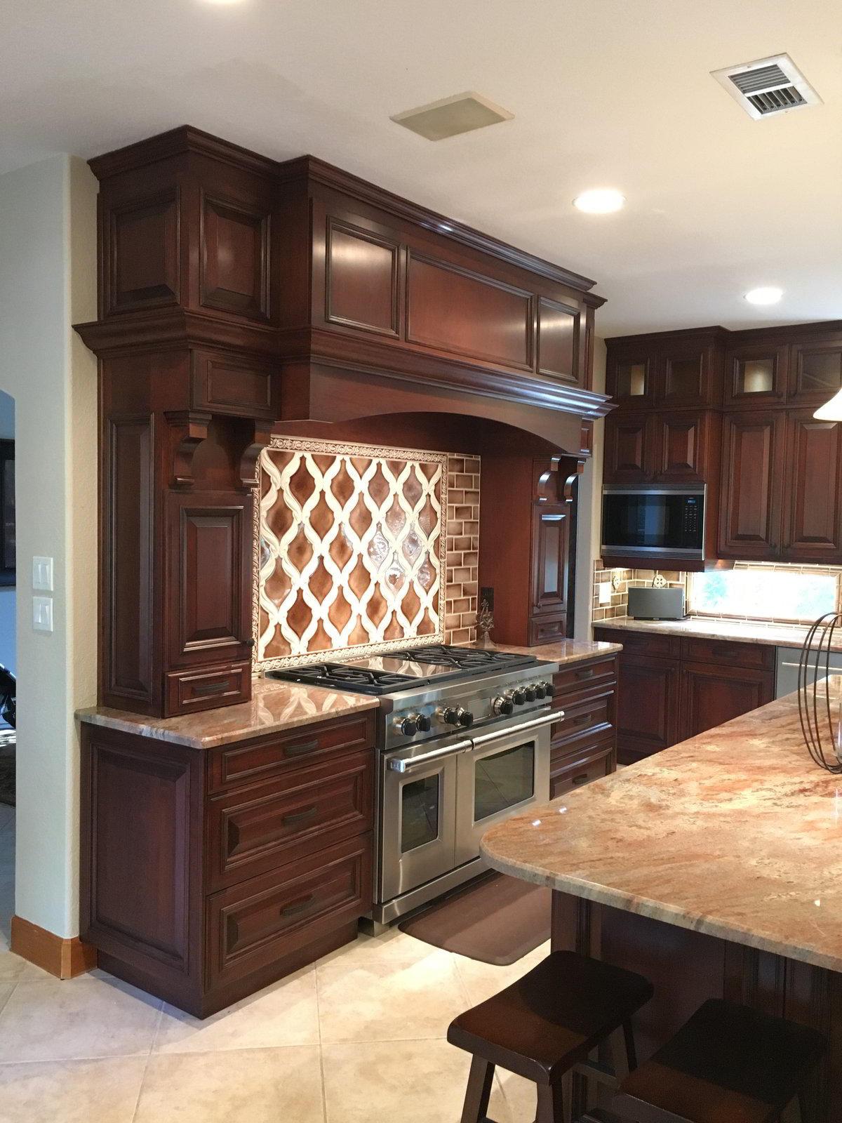 Custom Cherry Wood Cabinets in Friendship TX   Bay Area ...