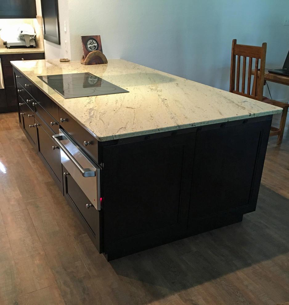 Offset Kitchen Island Lighting: Proper Lighting And Light Granite Countertops Offset Dark